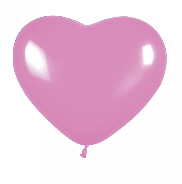 5 balonów Big Love Heart Pink 30 cm