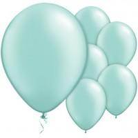 25 Minttürkise Luftballons Passion 28cm