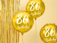 Glossy 80th Birthday Folienballon 45cm
