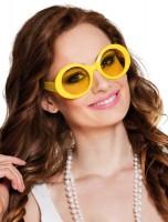 Runde Partybrille In Neongelb