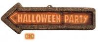 Halloween Neon Wegweiser Schild