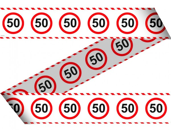 Traffic sign 50 barrier tape 15m
