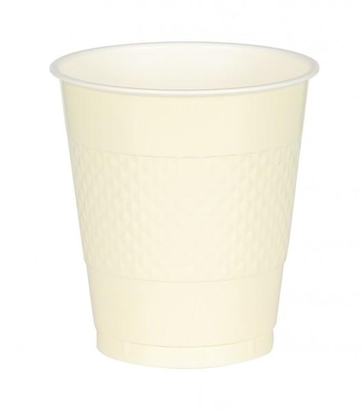 10 Kunststoff Becher Mila vanille 355ml