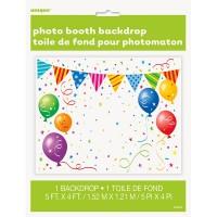 Kunnterbunte Partyfieber Fotowand Happy Birthday