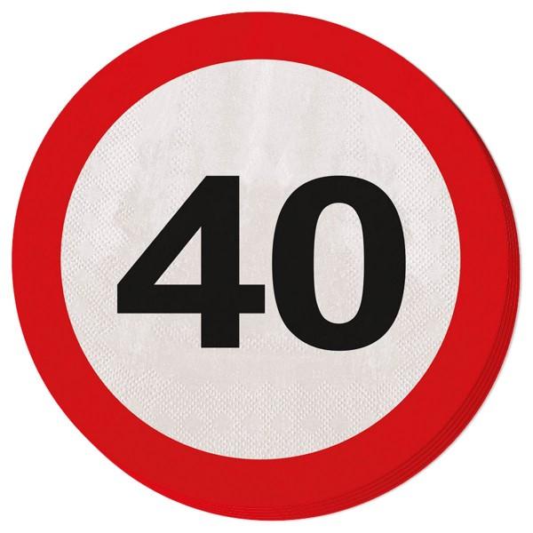 20 señales de tráfico 40 servilletas 33cm