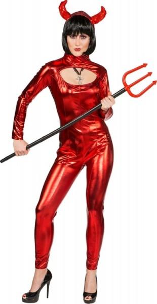 Glänzendes Teufelslady Kostüm Für Damen Partyde
