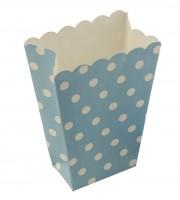 Punkte Spaß Blaue Popcorn Snacktüte 8er Set