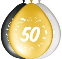 8 edle Ballons zum 50. Geburtstag