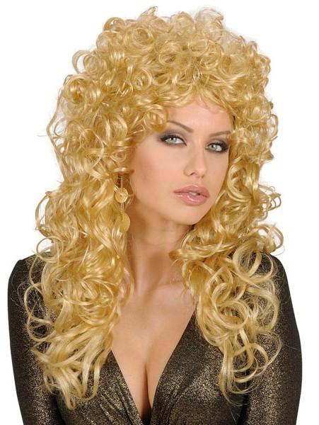 Blonde Lockenperücke Jolie Für Damen