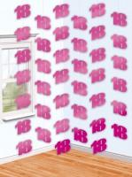 18th Celebration Hängedekoration Pink 210cm
