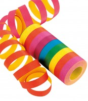 1 Rolle XL Luftschlangen Streifen Spaß