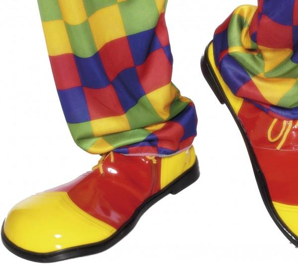 Żółto-czerwone buty klauna Popsy XXL