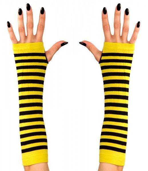 Long fingerless bee gloves