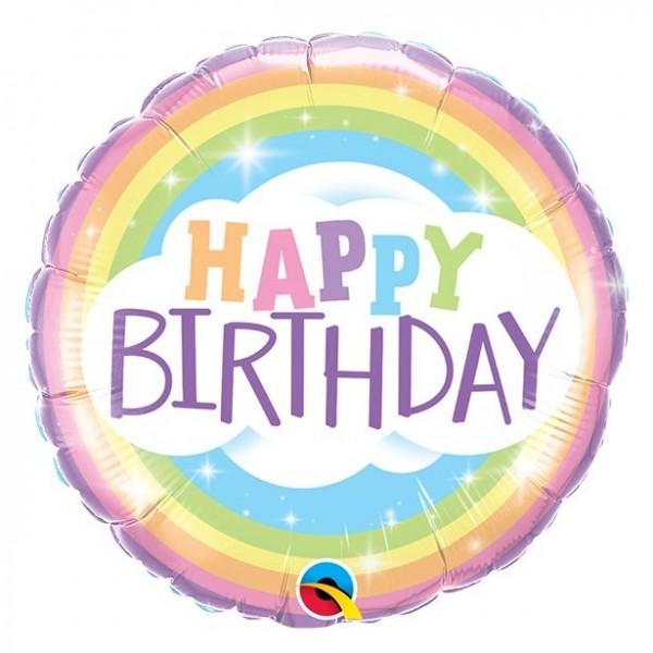 Folienballon Happy Birthday Rainbow 46cm