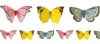 Süße Schmetterling Girlande 3m