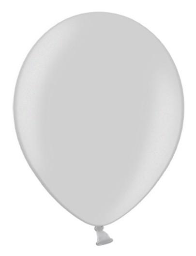 100 Ballons in Metallic-Grau 30cm