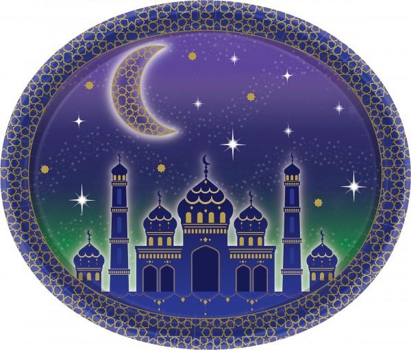 8 assiettes en papier Eid Mubarak 30cm