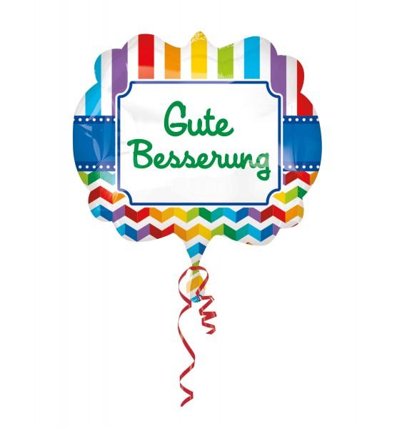 Folienballon Gute Besserung Regenbogen XL