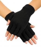 Schwarze Fingerlose Handschuhe