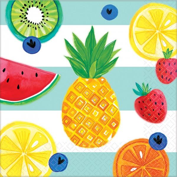 16 servilletas tutti frutti 33cm