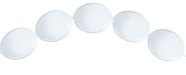 50 hvide kransballoner 15 cm
