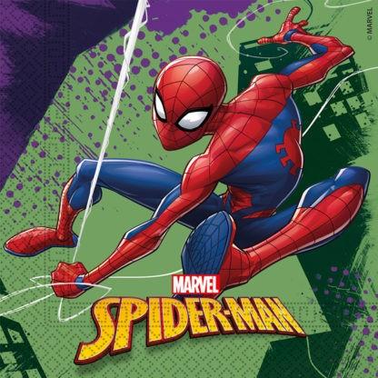 Spiderman Team Up 20 Servietten 33 x 33cm