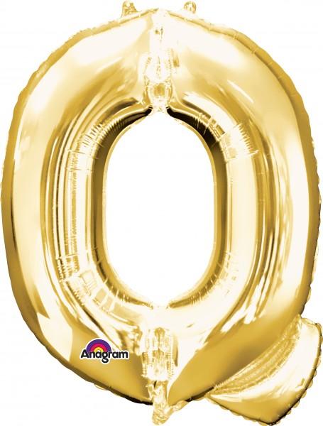Buchstaben Folienballon Q gold 81cm