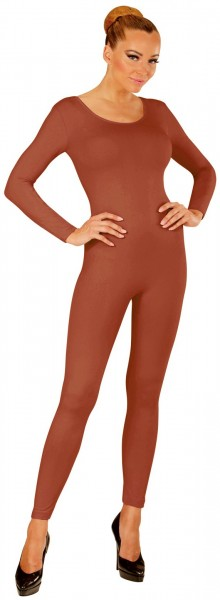 Body de manga larga para mujer, marrón