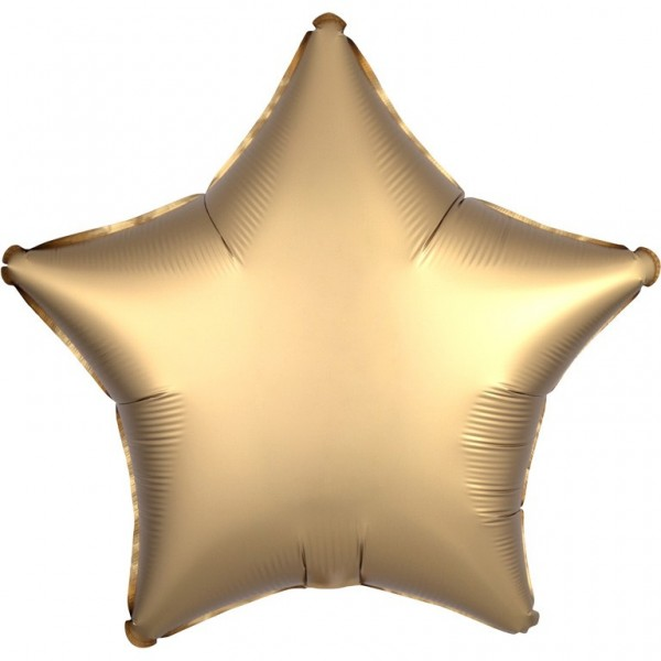 Shiny golden star foil balloon 43cm