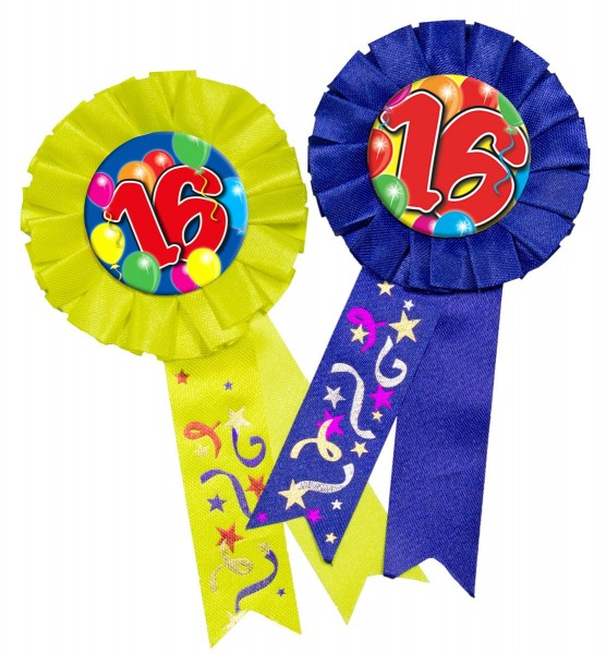 Espectacular botón de cumpleaños 16