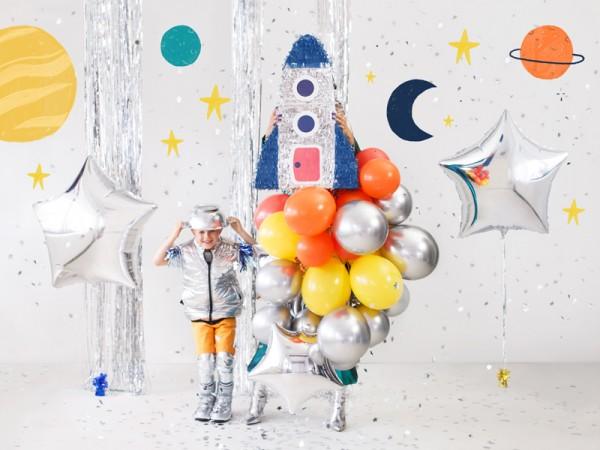 Piñata de cohetes de fiesta espacial