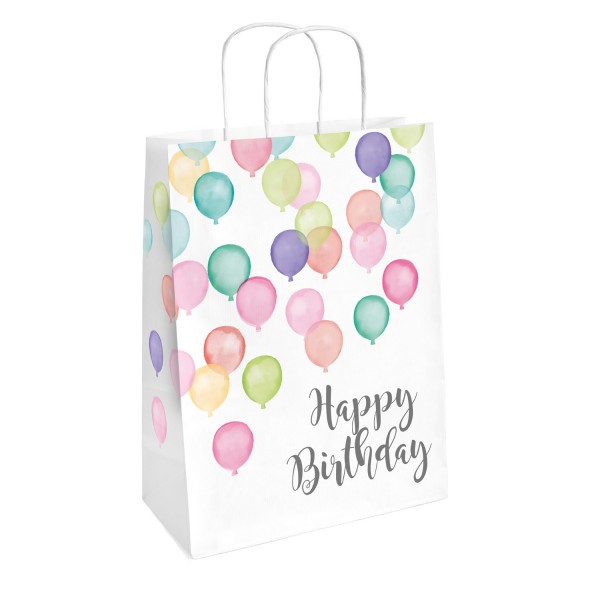 2 Geschenktüten Happy Birthday Pastel