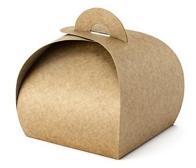 10 pudełek prezentowych o wyglądzie tektury 6 x 6 x 5,5 cm
