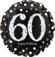 Golden 60th Birthday Folienballon 71cm