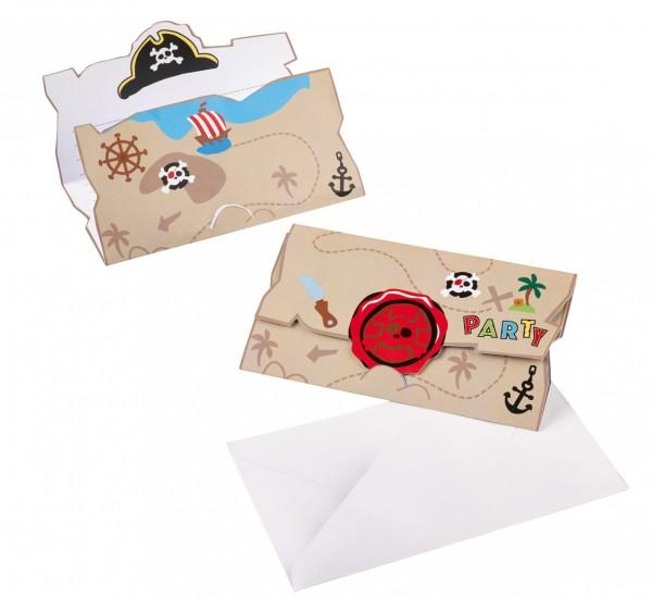 Offizielle Einladungskarte Zur Piraten Schatzsuche