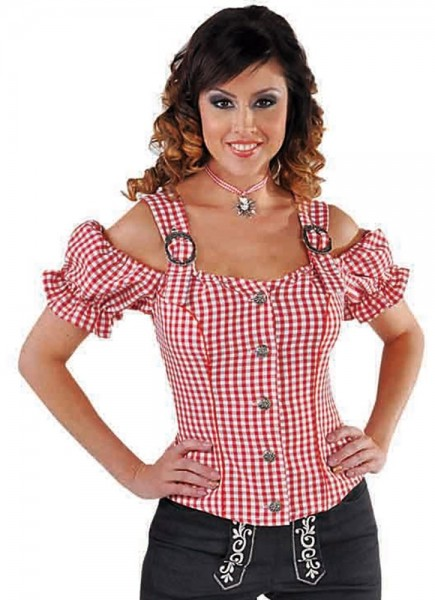 Rote Trachtenbluse Gina