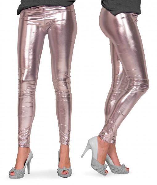 Zilver metallic partij legging