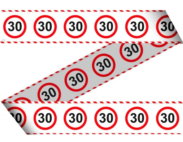 Traffic sign 30 barrier tape 15m