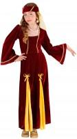 Mittelalterkönigin Margaret Kostüm Für Kinder