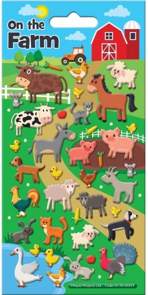 Bauernhof Tiere Moosgummi Sticker