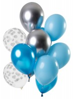 12 Latexballons Aquamarine