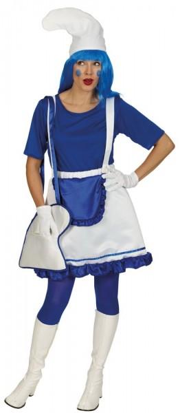 Blaue Zwergenfrau Damenkostüm