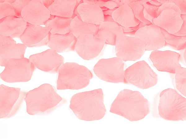 500 rose petals Amour light pink
