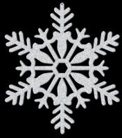 Funkelnder Schneeflocken Hänger 28cm