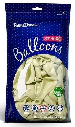 100 Partystar Luftballons creme 27cm