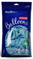 50 Partystar Luftballons pastellblau 27cm