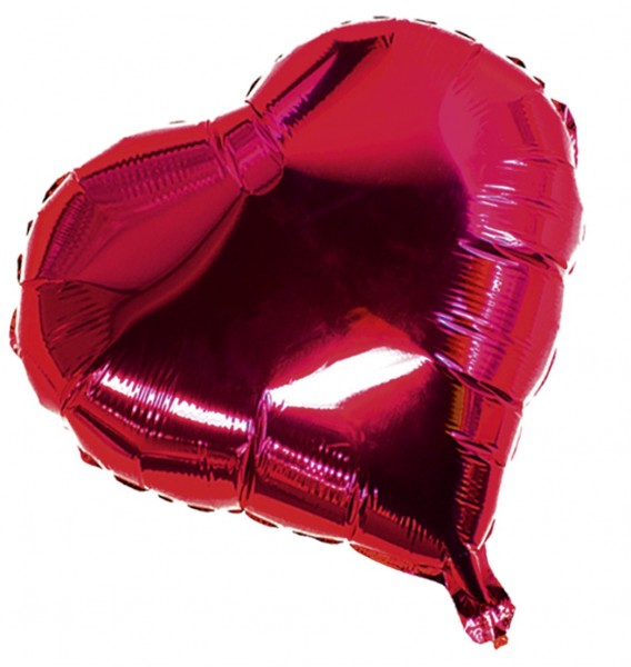 Ballon aluminium coeur Saint Valentin 10cm