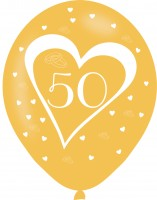 6 Lovely 50th Anniversary Latexballons