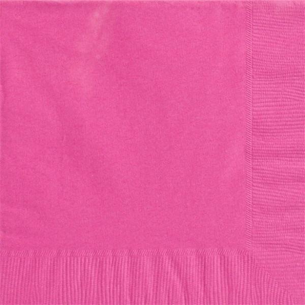 50 jednokolorowych serwetek różowych 40cm