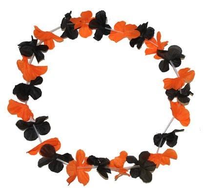 Halloween Hawaiikette Orange Schwarz